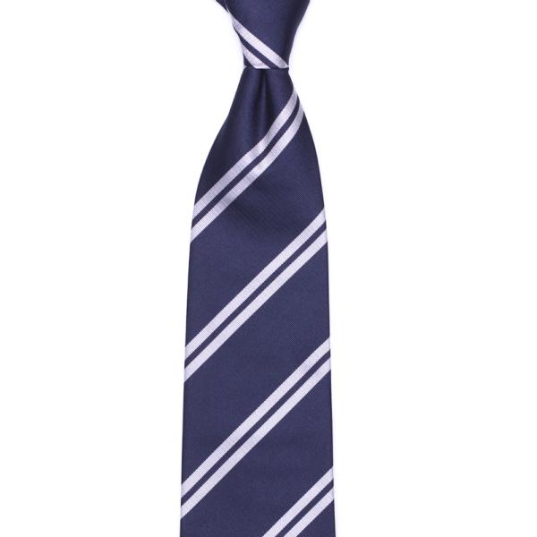 calabrese 1924 cravatta blue righe bianche