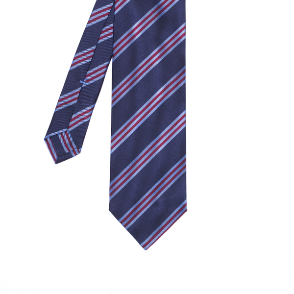 calabrese 1924 cravatta blue righe bianche rosse