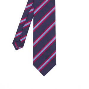 calabrese 1924 cravatta blue righe viola rosse