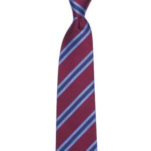 calabrese 1924 cravatta rossa righe blue bianche