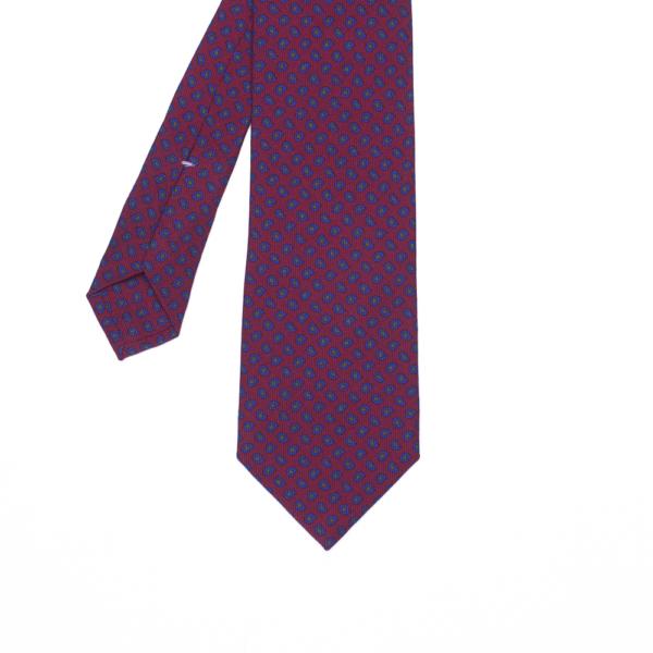 calabrese 1924 cravatta rossa fantasia gocce blue piccoli