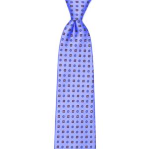 calabrese 1924 cravatta viola chiaro fantasia fiori rossi blue piccoli