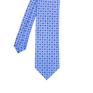 calabrese 1924 cravatta viola chiaro fantasia fiori blue fiore bianco piccoli