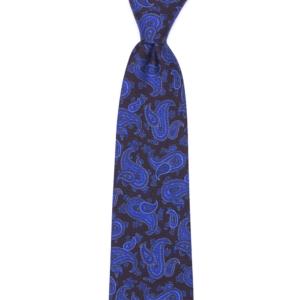 calabrese 1924 cravatta nera fantasia gocce blue dettagli blue chiaro blue scuro grandi e piccoli