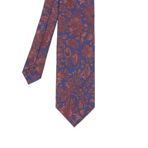 calabrese 1924 cravatta blue chiaro fantasia floreale rosso
