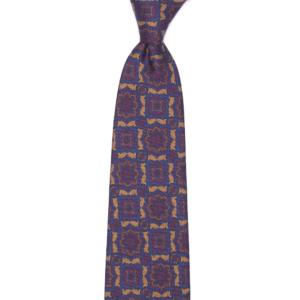 calabrese 1924 cravatta gialla fantasia fiori dettagli bordò blue beige grandi
