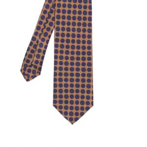 calabrese 1924 cravatta gialla fantasia cerchi dettagli rosso blue medio