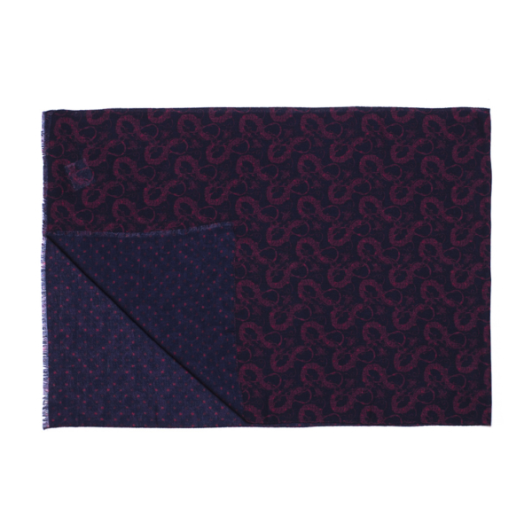 Calabrese 1924 sciarpa blue decorazioni dragone bordò