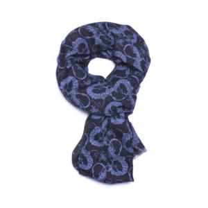 Calabrese 1924 sciarpa blue decorazioni dragone blue chiaro